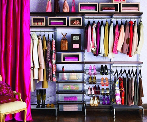 closet, clothes, and pink image