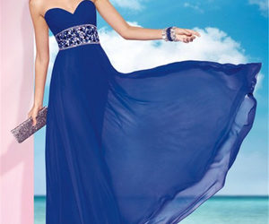 beaded, long prom dress, and 2014 image