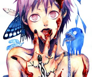blood, butterfly, and dorohedoro image