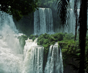 waterfall, nature, and landscape image