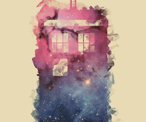 tardis, doctor who, and galaxy image