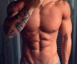 abs, men, and muscle image