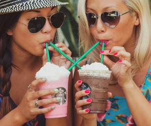 friends, starbucks, and bff image