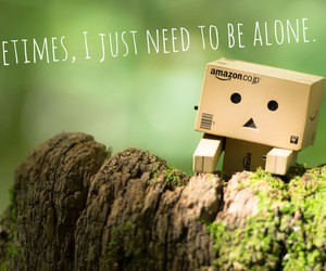 alone, danbo, and green image