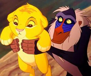 simba, disney, and lion king image