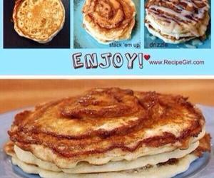 pancakes, food, and Cinnamon image
