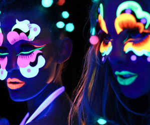 neon, cool, and party image