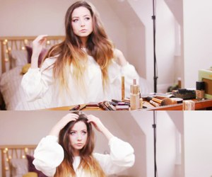 zoella, beauty, and youtube image