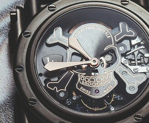 watch, luxury, and skull image