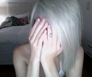 hair, platinum, and pale image