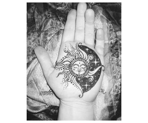 hand, henna, and hipster image