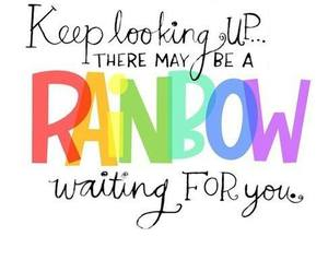 rainbow, quotes, and text image