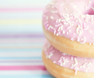 donut, pastel, and pink image