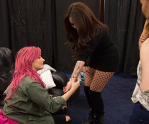 demi lovato, pink hair, and jesy nelson image