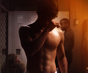 shower, tyler posey, and shirtless image