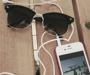 girl, sunglasses, and iphone image