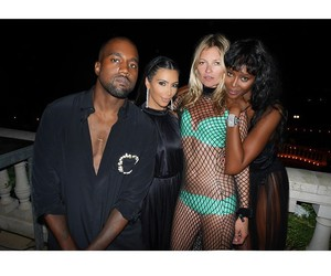 kim kardashian, kanye west, and kate moss image