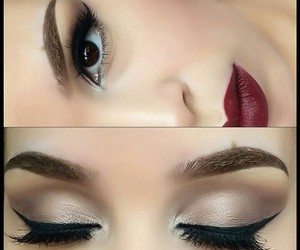 beauty, red lips, and elegance image