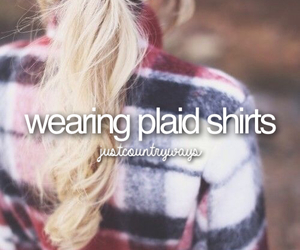 country, girl, and plaid image