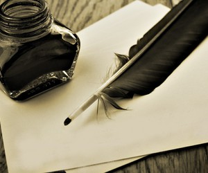 ink, plume, and writing image