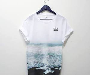 fashion, sea, and shirt image