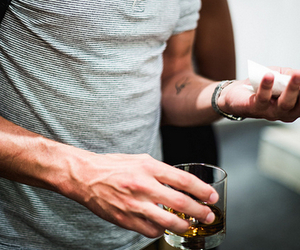 boy, tattoo, and drink image