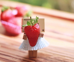 danbo, food, and strawberry image