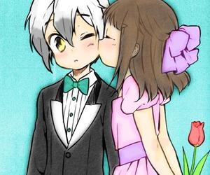 anime, cute, and kiss image