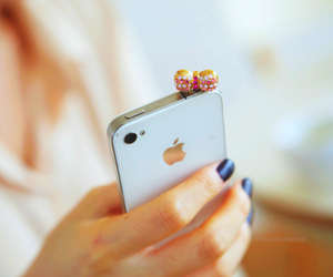 iphone, bow, and nails image