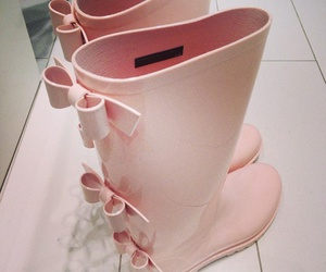 boots, fashion, and rain image