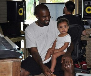 north west and kanye west image