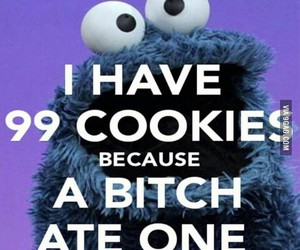 Cookies, funny, and cookie monster image