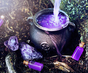 witch, magic, and purple image