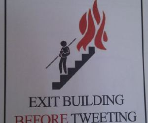 fire, funny, and twitter image