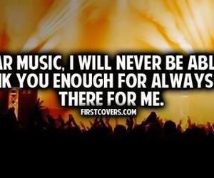 always, music, and thank you image