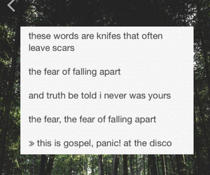 bands, panic at the disco, and this is gospel image
