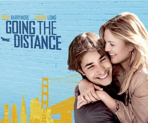drew barrymore, justin long, and movie image