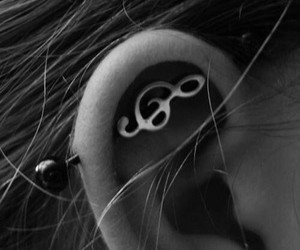 piercing, music, and industrial image