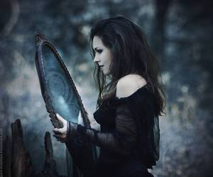 mirror, witch, and black image