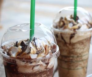 starbucks, chocolate, and drink image
