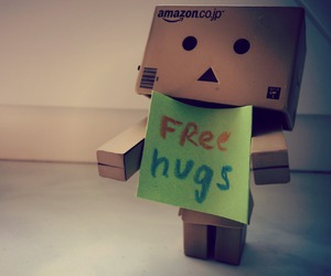 danbo, free hugs, and green image