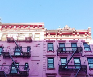 pink, house, and architecture image