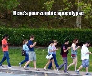 apocalypse, funny, and zombie image