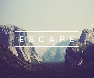 escape, mountains, and nature image