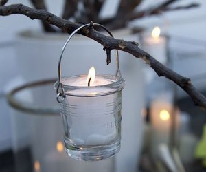 light, candle, and white image