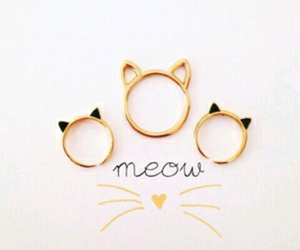 cat, meow, and rings image