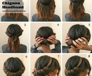 diferent, hairstyle, and headband image