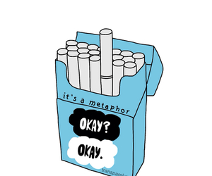 cigarette, metaphor, and fault in our stars image