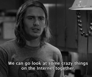 black and white, james franco, and drugs image
