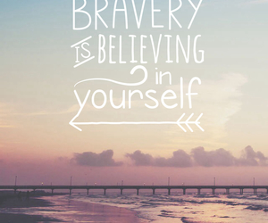 bravery and quote image